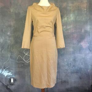Diane von Furstenberg Tan 3/4-Sleeve Dress